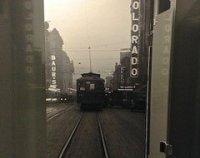 Now Arriving on Platform 2, a Playful Powder Room
