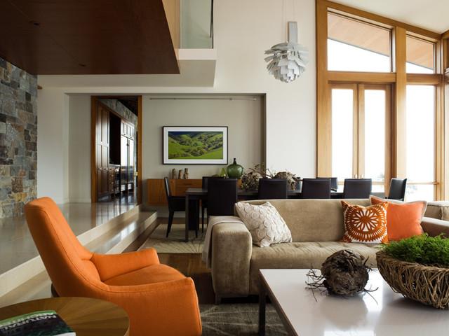 Hillside Residence modern dining room