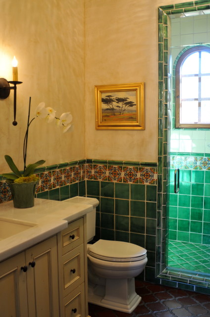 Spanish style home  Traditional  Bathroom  san francisco  by Melanie Giolitti Interior Design