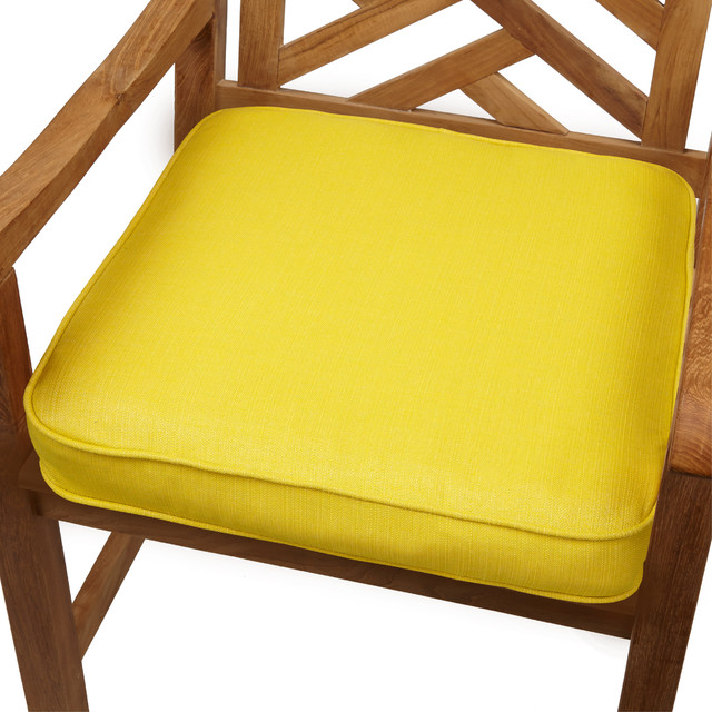 Yellow Green Indoor Outdoor 20inch Chair Cushion with