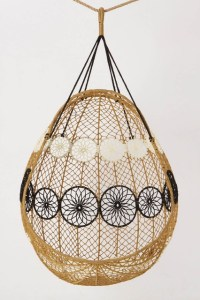 Knotted Melati Hanging Chair, Natural Motif - Eclectic ...