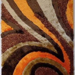 Burnt Orange Living Room Accessories Ideas For Wall Decor ~5 Ft. X 7 Hand-tufted Brown/orange Shaggy ...