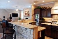 Family Room and Kitchen Brought Together - Traditional ...