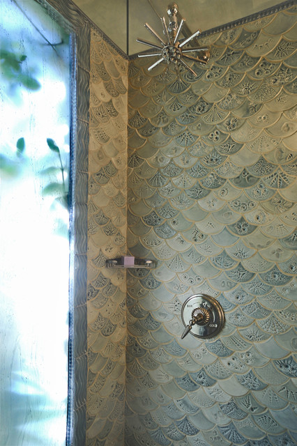 Fishscale Bathroom  Traditional  Bathroom  dc metro  by Mel Sears Studio