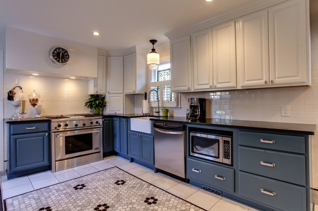 sears kitchen remodeling wooden countertops 1920's house in belmont area - traditional ...