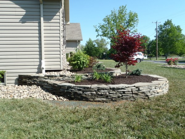 dry stacked stone walls