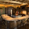Rustic lodge style home rustic kitchen houston by