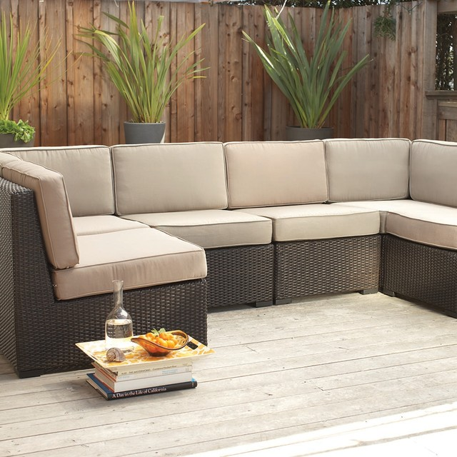 Filum Modular Sectional  Modern  Outdoor Sofas  other metro  by Plummers Furniture