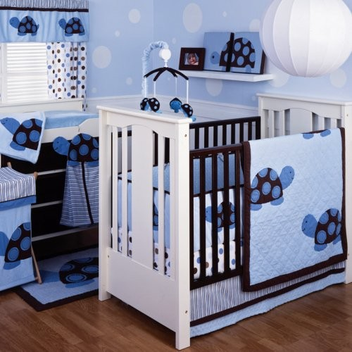 Kids Line Mod Turtle 4 Piece Crib Bedding Set