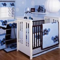 Kids Line Mod Turtle 4 Piece Crib Bedding Set