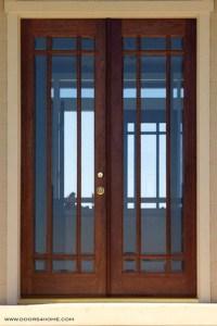 9-Lite French Doors, Beveled Glass - Modern - Front Doors ...