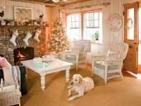 Lovely Christmas decor in a cottage-style home