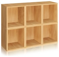 Way Basics Stackable Storage 6 Cubes Plus, Natural ...