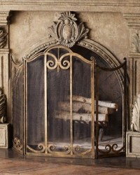 Classic Fireplace Screen - Traditional - Fireplace ...
