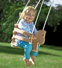 Wooden Horse Swing - Contemporary - Kids Playsets And ...