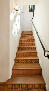 Tile Staircase - Mediterranean - Staircase - santa barbara ...