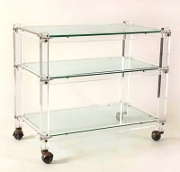 Acrylic Bar Cart - Modern - Bar Carts - by Black Rooster Decor