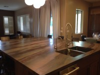 Contemporary Elegant Brown Quartzite Kitchen ...