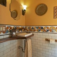 Houzz Outdoor Kitchens Lowes Kitchen Storage Under The Stairs - Mediterranean Powder Room Portland ...