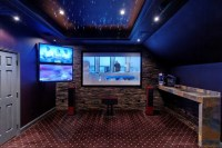 Media Room with Starlit Ceiling - Traditional - Home ...