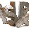 Rustique metal 3d letters traditional home decor by candelabra