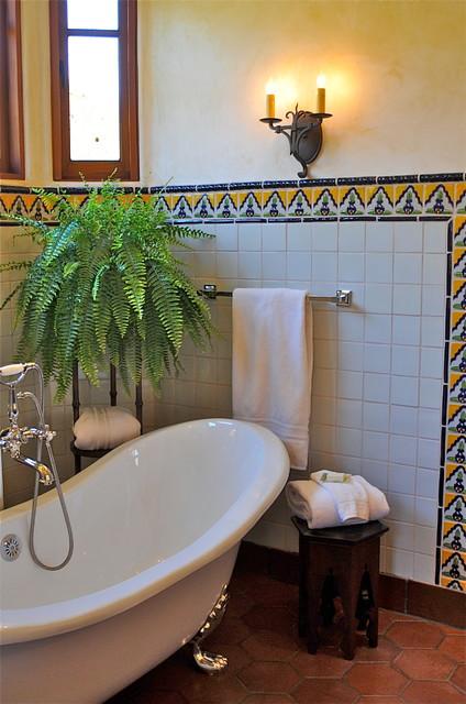 Spanish style home  Traditional  Bathroom  san francisco  by Melanie Giolitti Interior Design