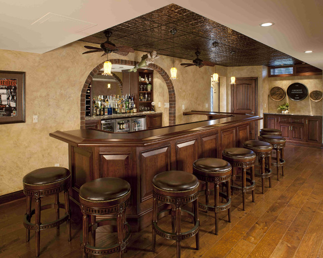 Bars  Traditional  Home Bar  philadelphia  by Media Rooms Inc