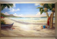 Waikiki Beach Wall Mural - Beach Style - Bedroom - san ...
