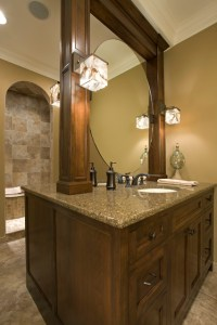 Master Bath with Two-Sided Vanity - Traditional - Bathroom ...