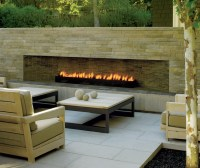 Modern Outdoor Fireplace
