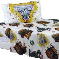 Monster Jam Twin Sheet Set Monster Truck Destruction ...