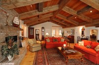 Ranch Style with Decorative Timbers - Traditional - Living ...