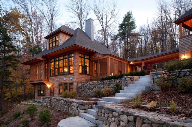 New Hampshire Lake House  Traditional  Exterior  boston  by Sheldon Pennoyer Architects