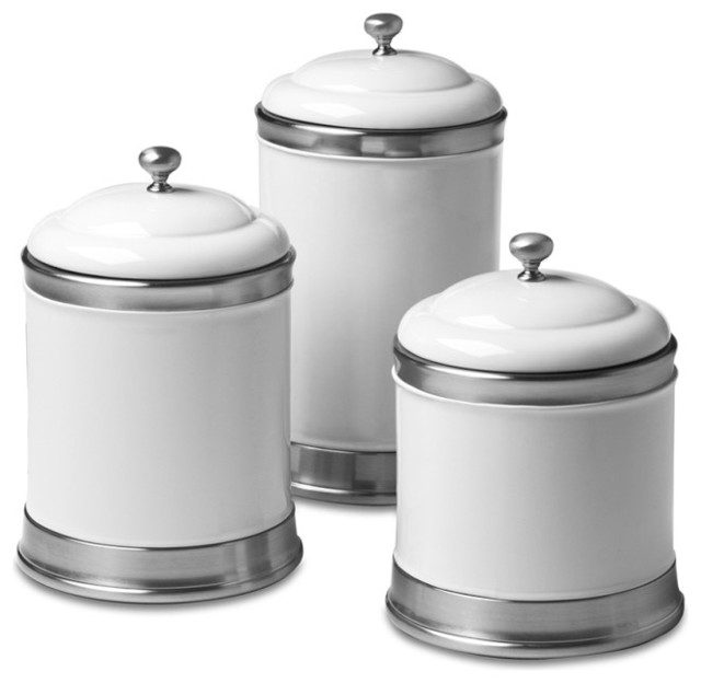 Yellow Storage Jars Kitchen