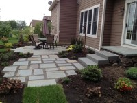 Backyard Flagstone Patio and Gardens in Maple Grove ...