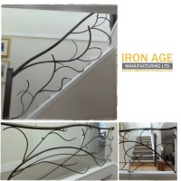 Interior Stair Railing - Custom Design - Tree Branch Style