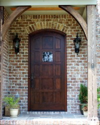 MODERN INTERIOR: Wooden Front Door Big Window