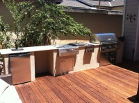 Wood Deck and Outdoor Kitchen at Rianda