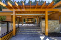 West Coast Post and Beam Rancher - Contemporary - Patio ...