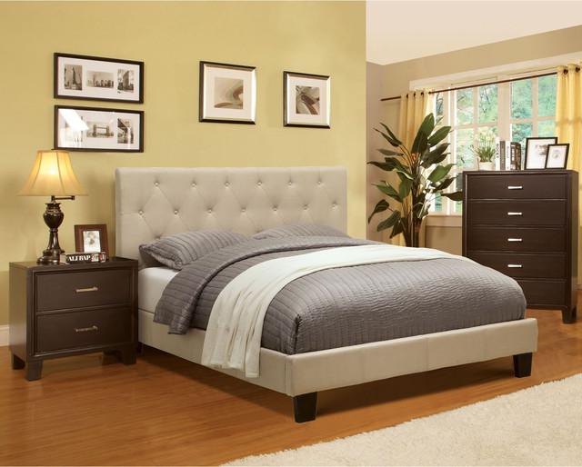 Furniture of America Perdella 3piece Ivory Low Profile