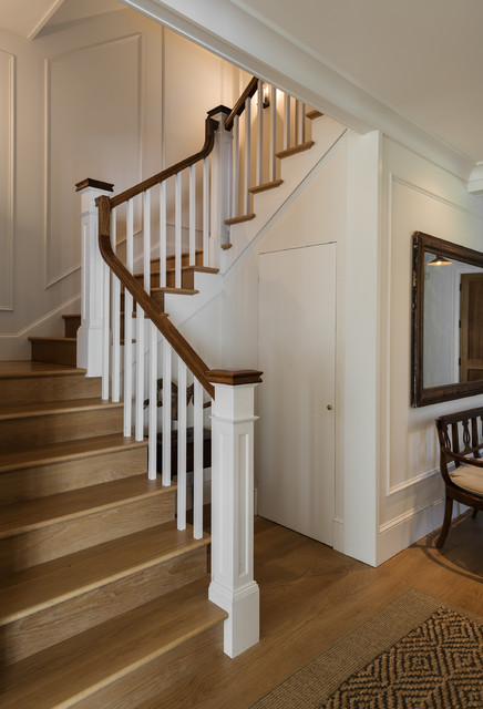Historic Home Expanded Farmhouse Staircase New York