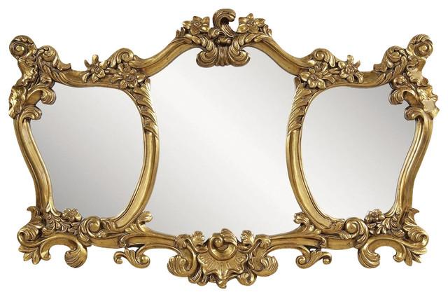 Bassett Mirror Old World Donatella Wall Mirror In Antique