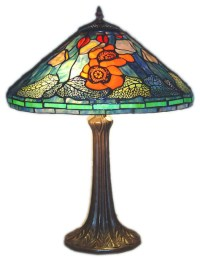Tiffany-style Water Lily Table Lamp - Contemporary - Table ...