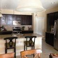 Paint color for kitchen with espresso cabinets neutral granite lite