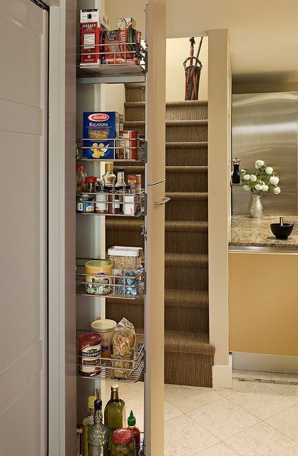 Pull out pantry in Galley kitchen  Eclectic  Kitchen