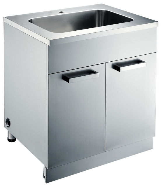 Stainless Steel Sink base Cabinets  Kitchen Cabinetry  san francisco  by DAWN KITCHEN  BATH