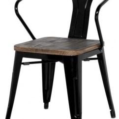 Eiffel Chair Wood Legs Swing Grey Grand Metal Arm Set Of 4, Black - Industrial Dining Chairs By Apt2b
