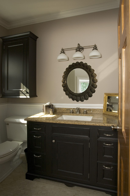Powder Room Vanity  Traditional  Powder Room  chicago  by Great Rooms Designers  Builders