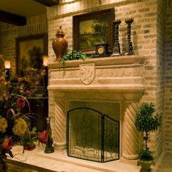 Formal Living Room With Brick Fireplace Wainscoting Ideas For Sam Allencustom Home Design - Traditional ...