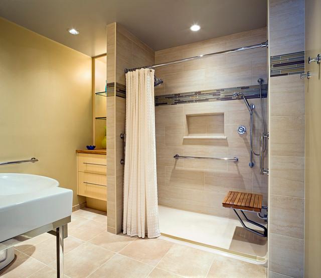 Accessible Design Bath Remodel  Contemporary  Bathroom  baltimore  by Patricia L Caulfield LLC